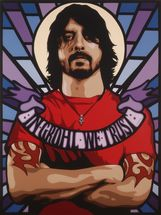 In Grohl we Trust wall mural thumbnail