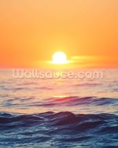 Orange Sunrise at Sea wall mural thumbnail