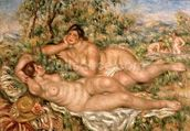 The Bathers, c.1918-19 (oil on canvas) wallpaper mural thumbnail