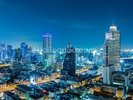 Bangkok Cityscape at Night wall mural thumbnail