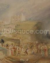 St. Catherines Hill, Guildford, Surrey, 1830 (w/c and graphite on paper) wallpaper mural thumbnail