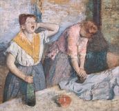 The Laundresses, c.1884 (oil on canvas) wall mural thumbnail