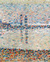 Study for The Channel at Gravelines, Evening, 1890 (oil on panel) mural wallpaper thumbnail