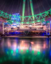 St. Patrick's Day at the London Eye mural wallpaper thumbnail