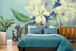 Get The Japanese Interior Trend With Cherry Blossom Wallpaper