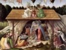 Mystic Nativity, 1500 (oil on canvas) (detail) wall mural thumbnail