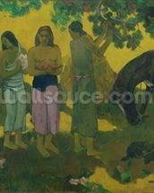 Rupe Rupe (Fruit Gathering), 1899 (oil on canvas) mural wallpaper thumbnail