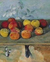 Still life of apples and biscuits, 1880-82 (oil on canvas) mural wallpaper thumbnail
