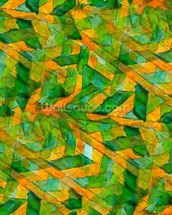 Picasso - Green Yellow Cubism wallpaper mural thumbnail
