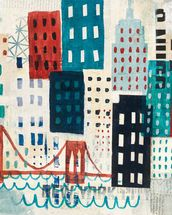 NY Skyline Collage wall mural thumbnail