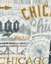 Hey Chicago Vintage wallpaper mural thumbnail