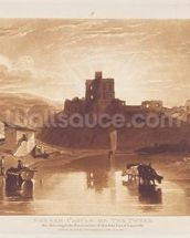 Norham Castle, engraved by Charles Turner (1773-1857) 1859-61 (engraving) wall mural thumbnail
