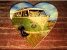 VW Camper Green and White wall mural thumbnail