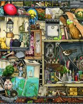 The Cupboard Under the Stairs mural wallpaper thumbnail