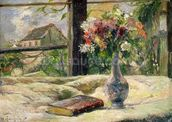 Vase of Flowers (oil on canvas) mural wallpaper thumbnail