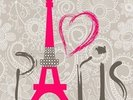 Love Paris wall mural thumbnail