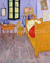 Van Goghs Bedroom at Arles, 1889 (oil on canvas) wall mural thumbnail