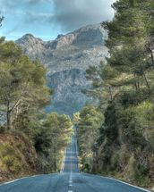 A Road Through the Majorcan Countryside wall mural thumbnail