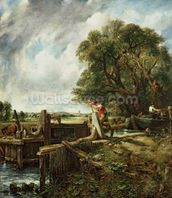 The Lock, 1824 (oil on canvas) wallpaper mural thumbnail