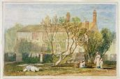 Steeton Manor House, near Farnley, c.1815-18 (w/c on paper) mural wallpaper thumbnail