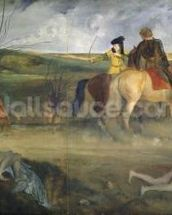 Scene of War in the Middle Ages, c.1865 (oil on canvas) mural wallpaper thumbnail