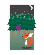 Fox in the Woods (2013) wall mural thumbnail