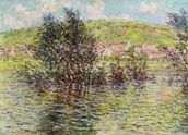 Vetheuil, View from Lavacourt, 1879 (oil on canvas) mural wallpaper thumbnail