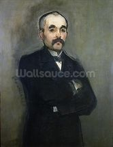 Portrait of Georges Clemenceau (1841-1929) 1879 (oil on canvas) wall mural thumbnail