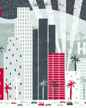 Hey Los Angeles Red mural wallpaper thumbnail