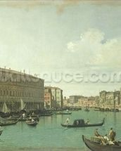 The Grand Canal from the Rialto Bridge (oil on canvas) wall mural thumbnail