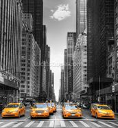 New York Yellow Taxis wallpaper mural thumbnail