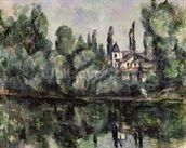 The Banks of the Marne, 1888 (oil on canvas) wall mural thumbnail