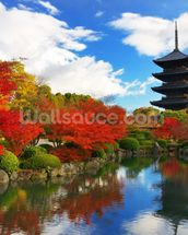 Toji Pagoda, Kyoto, Japan mural wallpaper thumbnail