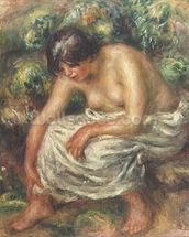 The toilet after the bath, 1915 wall mural thumbnail