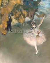 The Star, or Dancer on the stage, c.1876-77 (pastel on paper) mural wallpaper thumbnail