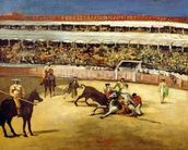 Bull Fight, 1865 (oil on canvas) wallpaper mural thumbnail