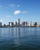 Waterfront Skyline, Miami mural wallpaper thumbnail