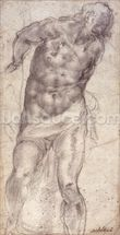 Figure Study (pencil on paper) mural wallpaper thumbnail