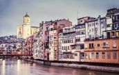 Old Girona mural wallpaper thumbnail