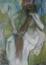 Woman Combing her Hair, 1887-90 (pastel on paper) wall mural thumbnail