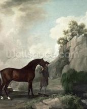 Cato and Groom (oil on canvas) wallpaper mural thumbnail