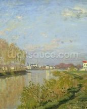 The Seine at Argenteuil, 1873 (oil on canvas) wallpaper mural thumbnail
