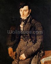 Portrait of Jean-Pierre-Francois Gilibert (1783-1850) 1804-05 (oil on canvas) wall mural thumbnail
