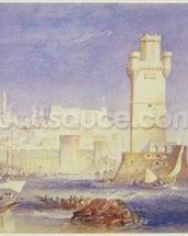 Rhodes, c.1823-24 (w/c & bodycolour on paper) wall mural thumbnail