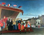 Representatives of the Forces greeting the Republic as a Sign of Peace, 1907 wallpaper mural thumbnail