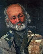Head of an Old Man, c.1866 (oil on canvas) wall mural thumbnail