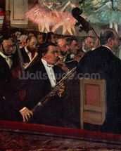 The Opera Orchestra, c.1870 (oil on canvas) wall mural thumbnail