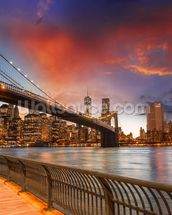 Brooklyn Bridge Park, Sunset mural wallpaper thumbnail