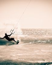 Kitesurfing in Andalusia, Spain. wall mural thumbnail