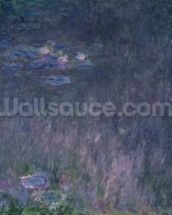 Waterlilies: Reflections of Trees, detail from the left hand side, 1915-26 (oil on canvas) mural wallpaper thumbnail